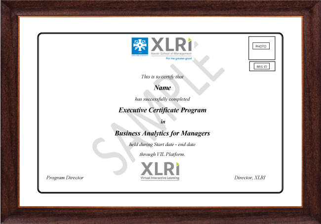 Business Analytics for Managers - Certificate