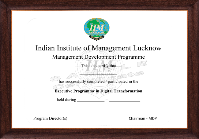 Executive Programme In Digital Transformation - Certificate