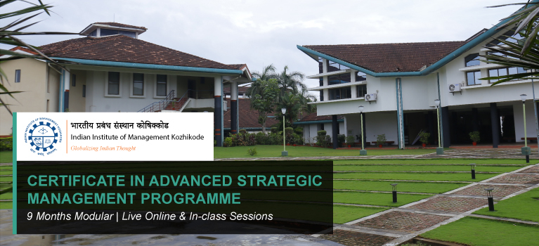 CERTIFICATE IN ADVANCED STRATEGIC MANAGEMENT PROGRAMME