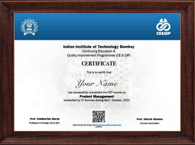 Certificate Program in Product Management - Certificate